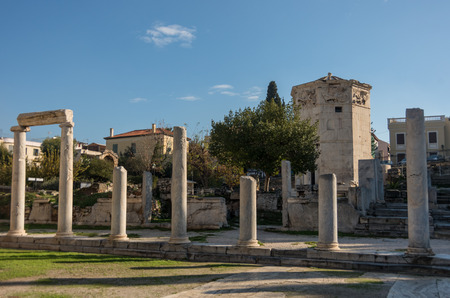 Roman Agora and the Tower of the Winds. Athens, Greece.