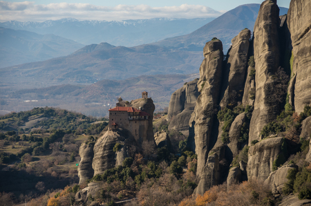 Monastery of St. Nicholas at Meteora. Meteora is one of the largest built complexes of Eastern Orthodox monasteries in Greece.