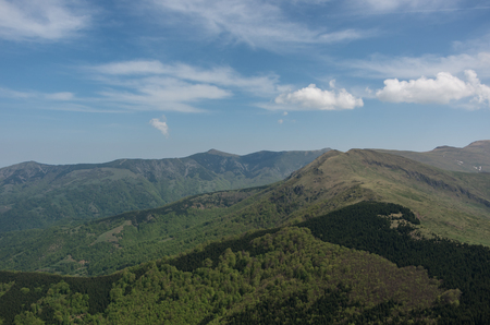 View to Stara planina mountain massif in the south-eastern Serbia from Babin Zub,  Serbia.