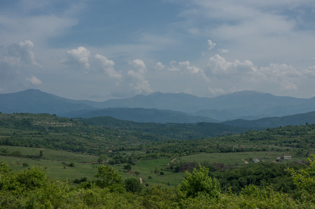 Landscape with  Stara planina mountain massif in the south-eastern Serbia.