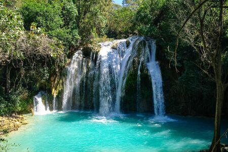 Cascades of El Chiflon waterfall, Chiapas, Mexico