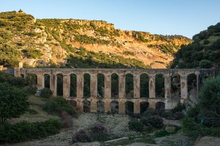 Haroune Roman Aqueduct near Moulay Idriss and Volubilis in Morocco