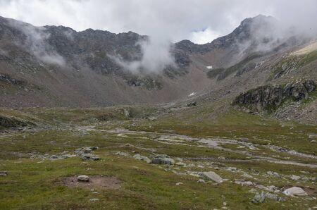 Highlands landscape in Monte Rosa massif near Punta Indren. Alagna Valsesia area, Italy Reklamní fotografie