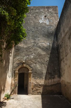 The ruins of Dar Caid Hadji fortified town near Essaouira, Morocco