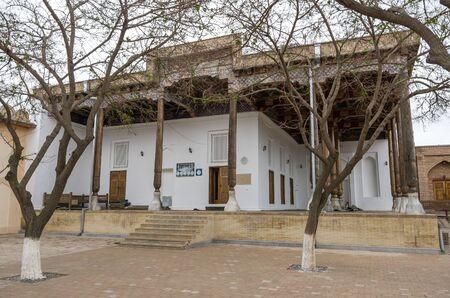 Samarkand, Uzbekistan - April 26, 2015: Rukhobod mosque, Historic buildings Editorial