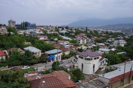 Aerial top view of Stepanakert  the capital of Nagorno-Karabakh (Artsakh) region. Stock fotó