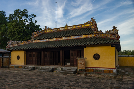 Imperial Tomb of Dong Khanh in Hue, Vietnam 스톡 콘텐츠