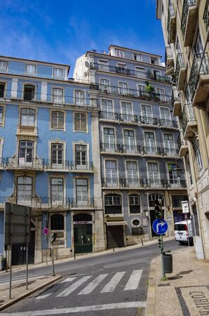 Lisbon, Portugal - March 8, 2010: Architecture in the Old Town of Lisbon, Portugal. 版權商用圖片