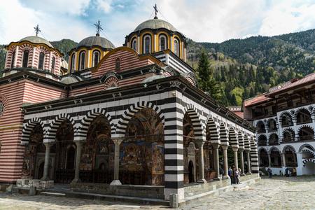 Rila, Bulgaria - May 3, 2019: Rila Monastery, Bulgaria. The Rila Monastery is the largest and most famous Eastern Orthodox monastery in Bulgaria. Redactioneel