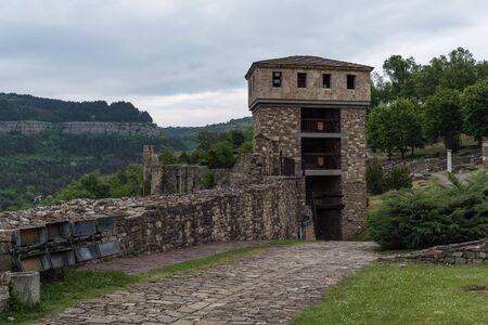 Tower and walls of Tsarevets Fortress ain Veliko Tarnovo, Bulgaria
