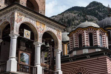 Details of Rila Monastery, Bulgaria. The Rila Monastery is the largest and most famous Eastern Orthodox monastery in Bulgaria.