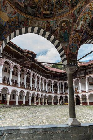 Rila, Bulgaria - May 3, 2019: Rila Monastery, Bulgaria. The Rila Monastery is the largest and most famous Eastern Orthodox monastery in Bulgaria. Editorial