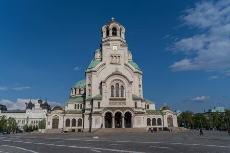 The Alexander Nevsky Cathedral in the downtown of Sofia, Bulgaria Editorial