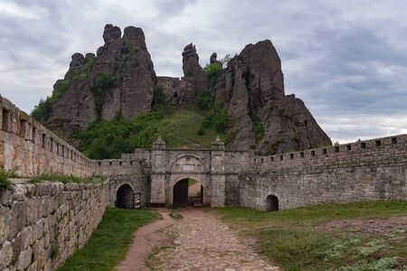 Gate of the fortress Kaleto and the Belogradchik rocks, Bulgaria