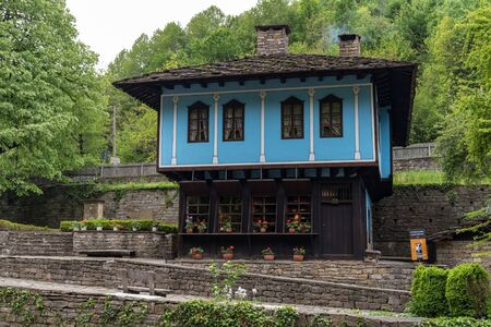 Etra, Bulgaria - May 7, 2019: Old house in architectural ethnographic complex