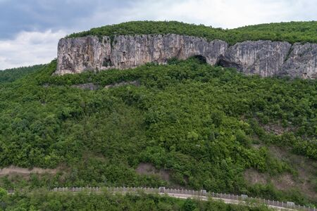 Panoramic view of canyon of Dryanovo river nearMonastery St. Archangel Michael, Gabrovo region, Bulgaria