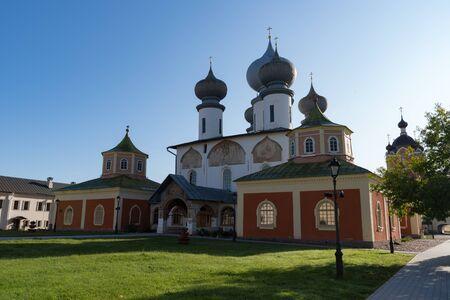 Assumption Cathedral in Tikhvin Assumption (Bogorodichny Uspensky) Monastery, Tikhvin, Russia