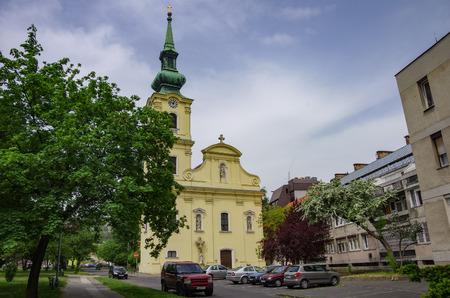 Budapest, Hungary - May 19, 2013: Church of Saints Cyril and Methodius near the medieval Orthodox monastery Rozhen, near Melnik, Bulgaria 에디토리얼