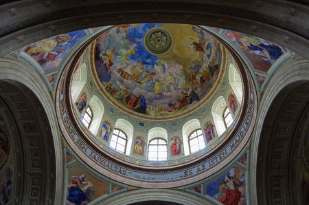 Eger, Hungry - May 12,. 2013: Inside Cathedral Basilica of St. John the Apostle in Eger