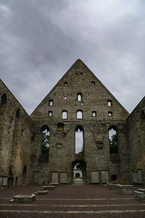Ancient ruined St. Brigitta convent in Pirita region, Tallinn, Estonia
