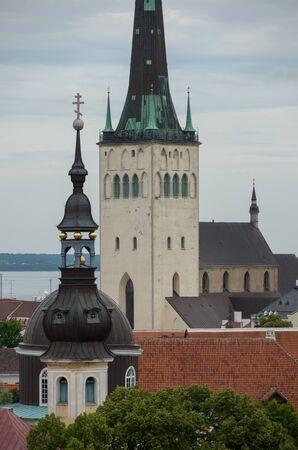 View of Saint Olaf Church in Tallinn, Estonia. The spire is 123 meters.