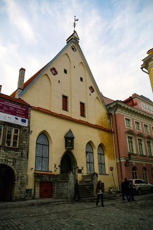 Tallinn, Estonia - March 27, 2010: Museum House Great Guild in the old town,Tallinn, Estonia, Baltic States, Europe