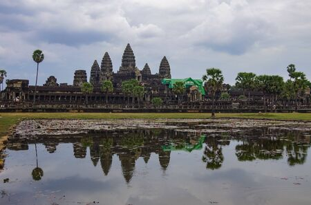 Angkor Wat - Khmer temple in Siem Reap province, Cambodia, Southeast Asia. Stockfoto
