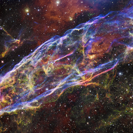 Colorfull stars nebula in outer space. Stock Photo