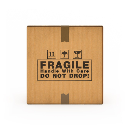 shipped: Corrugated cardboard boxes on white