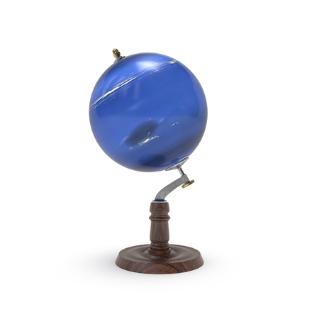 neptuno: el mapa del mundo de Neptuno representación 3D