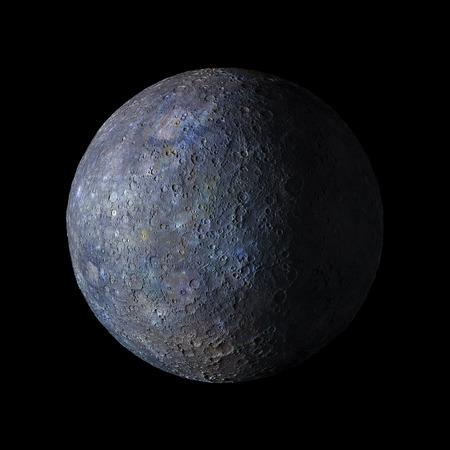 mercury: Solar system planet Mercury on black background 3d rendering.