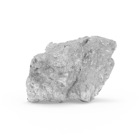 The mineral raw materials 3d rendering, isolated