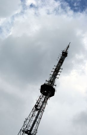 ubiquitous: Cell phone tower for communications Stock Photo