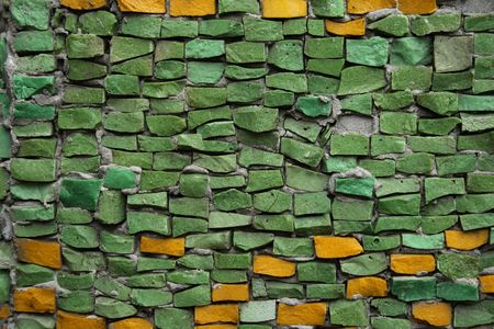 Mosaic from color ceramic tales photo