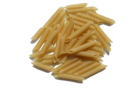Isolated on white background pasta photo