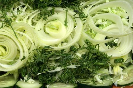 salad from cabbage, peel, cucmber and dill Stock Photo - 3209844