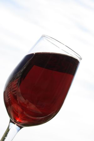 red wine in glass on white background Stock Photo - 3217945
