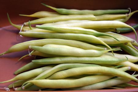 vigor: String bean in pods - a component in preparation of various dishes Stock Photo