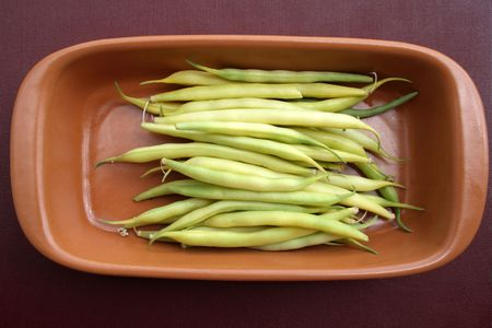 String bean in pods - a component in preparation of various dishes photo