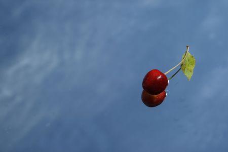 bing: sweet cherry on the mirror