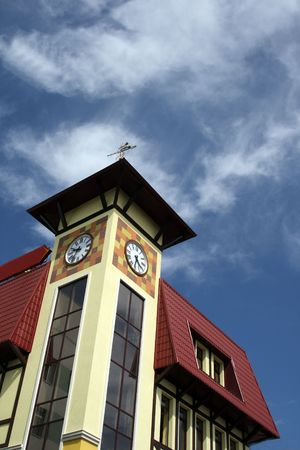 tower with clock in german stile Stock Photo - 3261100