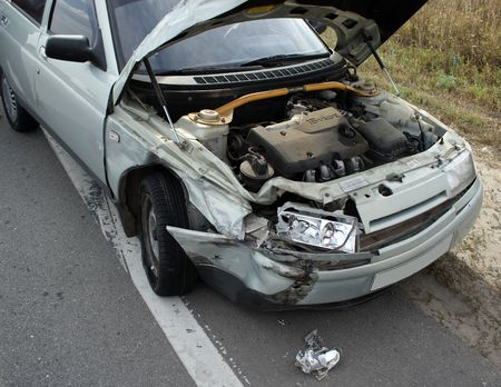 The car the victim in failure on a public road photo