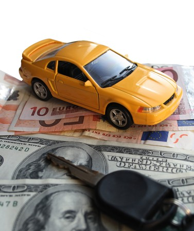 FinanceInvestment Conceptmoney and car  Stock Photo