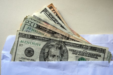 american dollars in the pocet photo