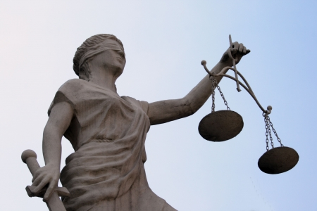 justice balance: Femida sculpture Stock Photo