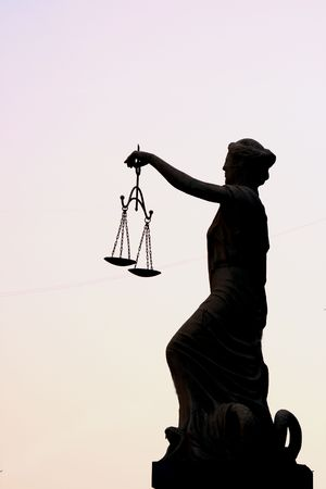 Femida sculpture Standard-Bild