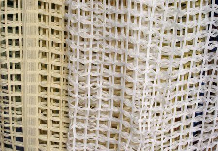 Creame blanco y textura de una malla de material de burla Foto de archivo - 4718637
