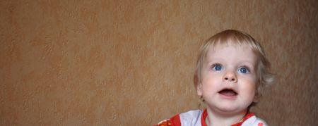 closeup portrait of litlle boy photo