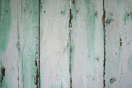 peeling paint: painted wood fence