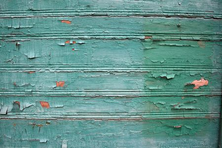 distressed wood: painted wood fence